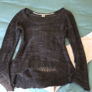 Roxy gray cotton ready for Fall sweater size XL